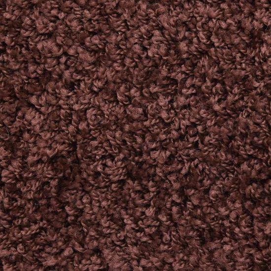 shumee Preproge za stopnice 15 kosov 65x25 cm rjave