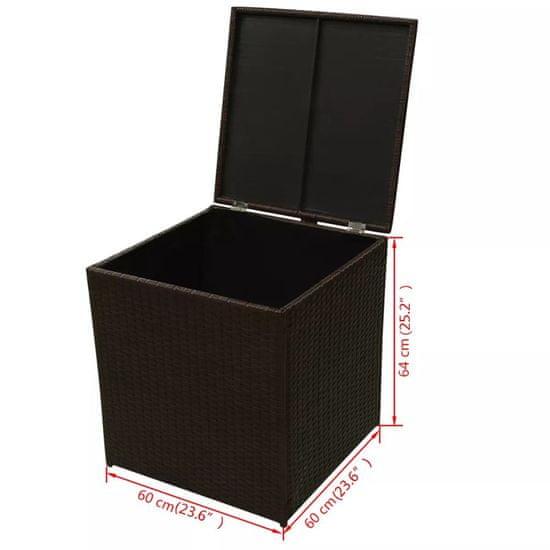 shumee Vrtna sedežna garnitura z blazinami 8-delna poli ratan rjava