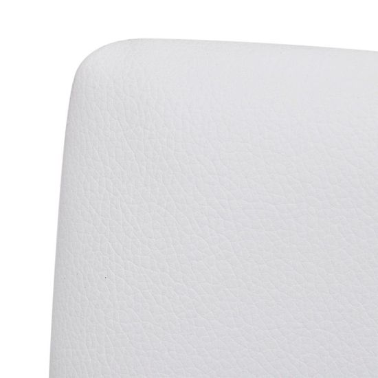 shumee Nihajni jedilni stoli 6 kosov belo umetno usnje