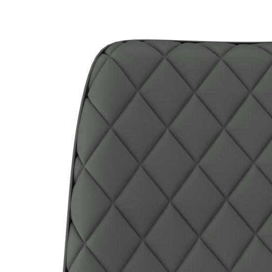 shumee Krzesła jadalniane, 2 szt., jasnoszare, sztuczna skóra