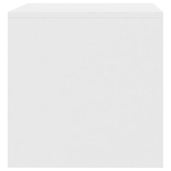 shumee Szafka pod TV, biała, wysoki połysk, 80x40x40 cm, płyta wiórowa