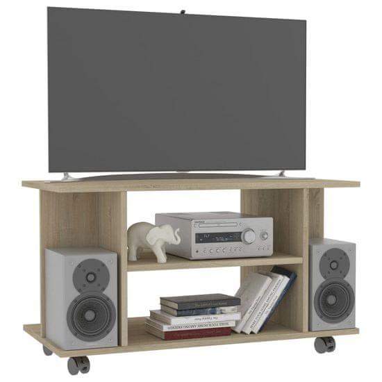 shumee TV omarica s kolesci sonoma hrast 80x40x40 iverna plošča