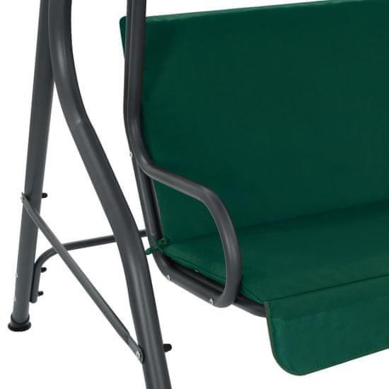 shumee Vrtna gugalnica zelena 170x110x153 cm blago