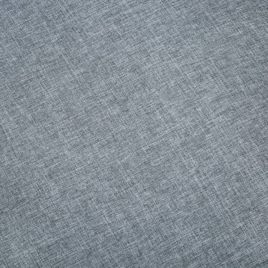 shumee Sofa 2-osobowa tapicerowana tkaniną, jasnoszara