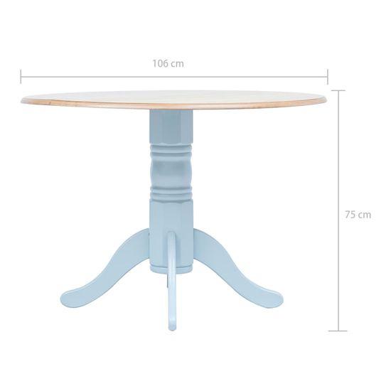 shumee Jedilna miza siva in rjava 106 cm iz trdnega kavčukovca
