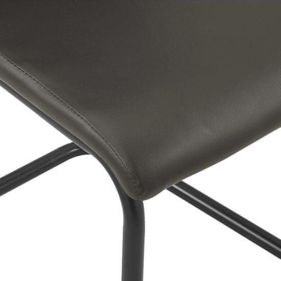 shumee Nihajni jedilni stoli 6 kosov rjavo umetno usnje