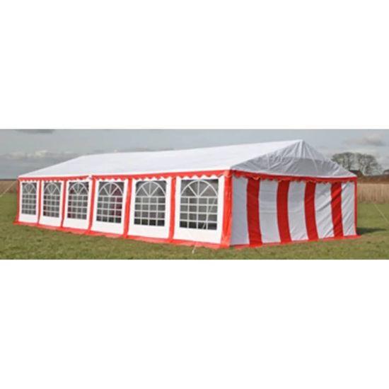 shumee Vrtni šotor 12x6 m rdeč