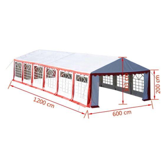 shumee Párty stan 12x6 m, červený