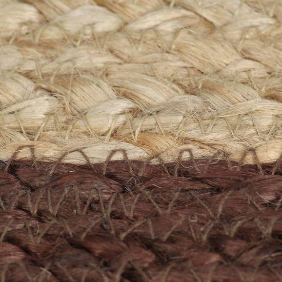 shumee Ręcznie wykonany dywanik, juta, brązowa krawędź, 120 cm