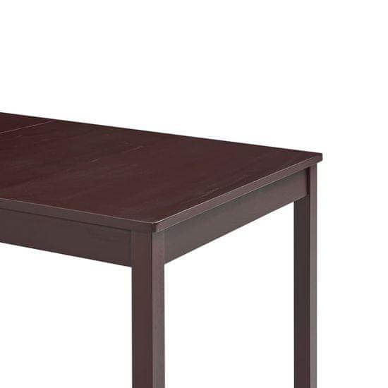 shumee Jedálenský stôl, tmavohnedý 140x70x73 cm, borovicové drevo