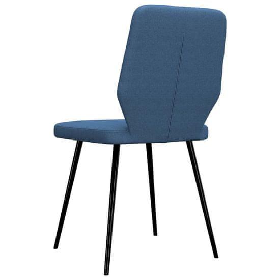 shumee Krzesła stołowe, 4 szt., niebieskie, tapicerowane tkaniną