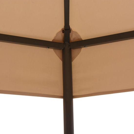 shumee Vrtni šotor / paviljon šestkoten bež 323x265 cm