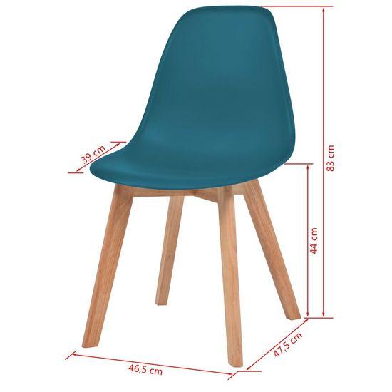 shumee Jedilni stoli 4 kosi turkizna plastika