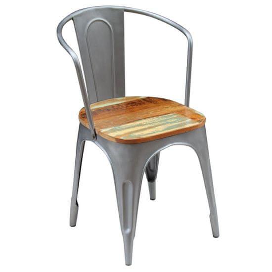 shumee Krzesła stołowe, 2 szt., lite drewno z odzysku