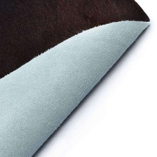 shumee Dywan z krowiej skóry, czarny, 150x170 cm