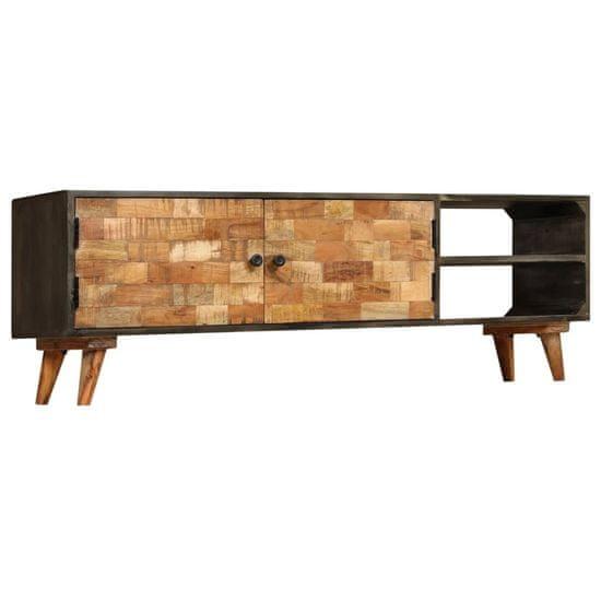 shumee tömör mangófa TV-szekrény 140 x 30 x 45 cm