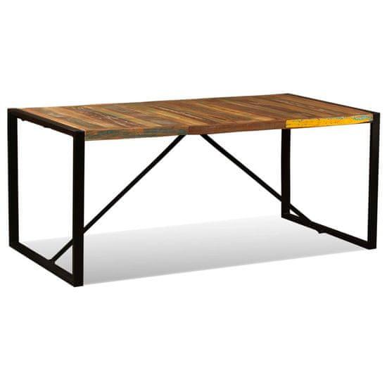 shumee Jedilna miza iz trdnega predelanega lesa 180 cm