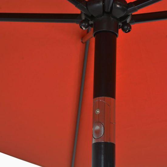 shumee Zunanji senčnik s kovinskim drogom 300x200 cm terakota
