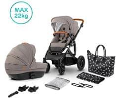 KinderKraft otroški voziček Stroller PRIME 2in1 beige