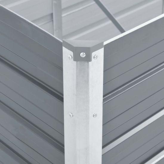 shumee Podwyższona donica z galwanizowanej stali, 160x40x45 cm, szara