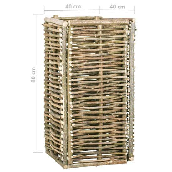 shumee Podwyższona donica ogrodowa, 40x40x80 cm, drewno leszczynowe