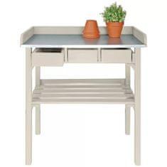shumee Esschert Design bela vrtna delovna miza CF29W