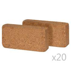 shumee Kocke iz kokosovih vlaken 40 kosov 650 g 20x10x4 cm