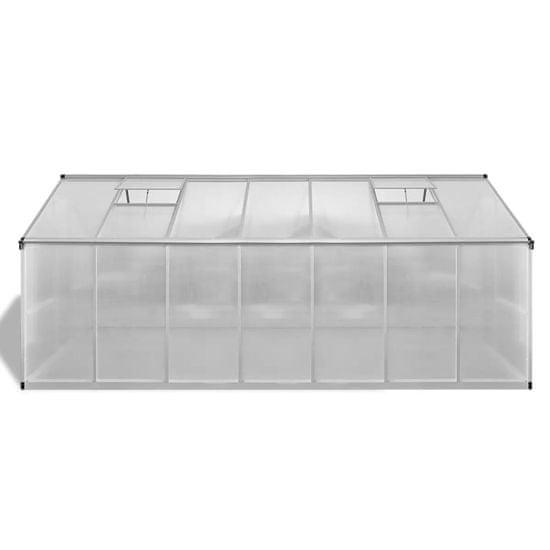 shumee Rastlinjak okrepljeni aluminij 10,53 m²