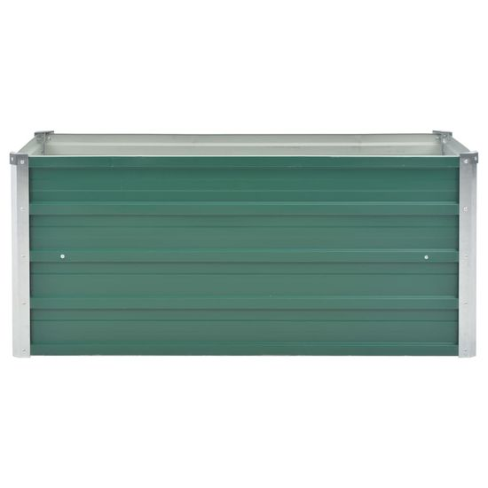 shumee Visoka greda iz pocinkanega jekla 100x40x45 cm zelene barve