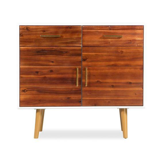slomart Komoda iz trdnega akacijevega lesa 90x33,5x83 cm