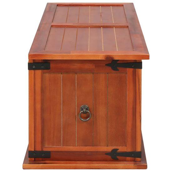 shumee Skrzynia, 90 x 45 x 40 cm, lite drewno akacjowe