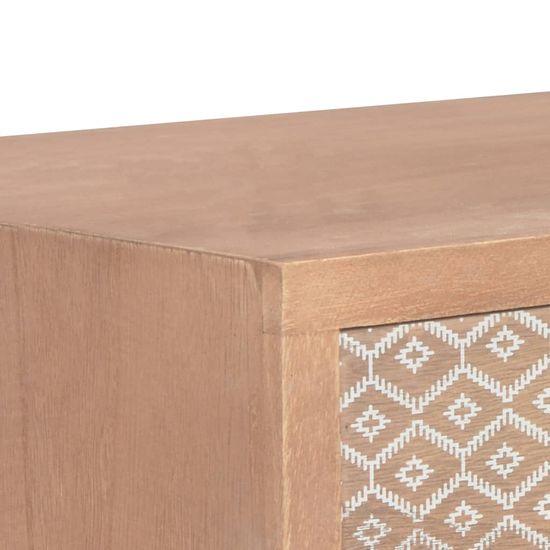 Greatstore Konzolna mizica s 3 predali 100x30x73 cm trdna borovina