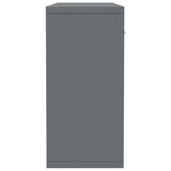 shumee Komoda visok sijaj siva 88x30x65 cm iverna plošča