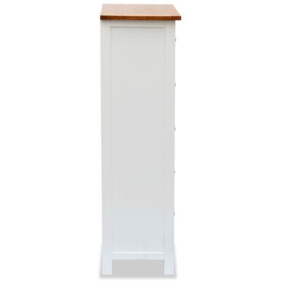 shumee Visok predalnik 45x32x115 cm trdna hrastovina