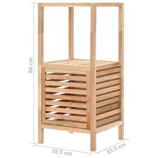 shumee Kopalniška omara za shranjevanje orehovina 39,5x35,5x86 cm