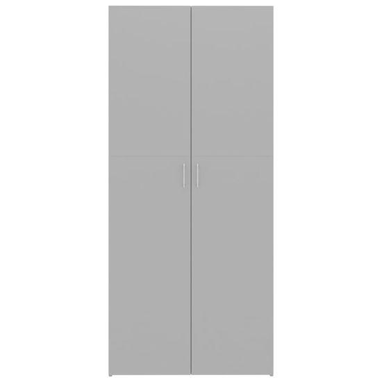 shumee Omara za shranjevanje siva 80x35,5x180 cm