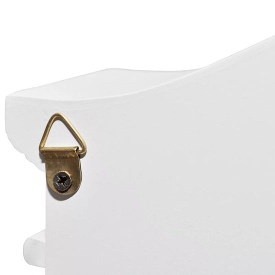 shumee Skříňka na klíče s fotorámečkem bílá