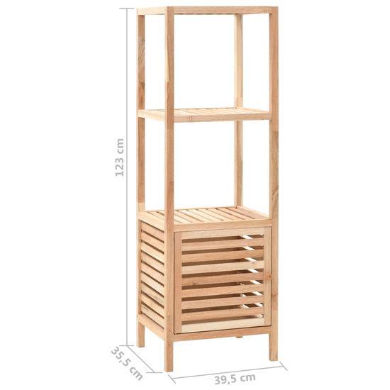 shumee Kopalniška omara za shranjevanje orehovina 39,5x35,5x123 cm