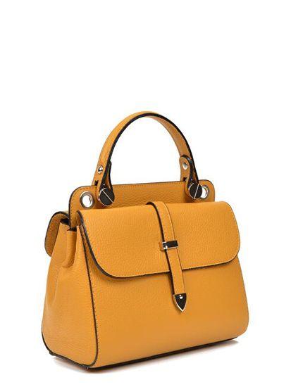 Carla Ferreri Ženska usnjena torbica AW19CF1543 Senape