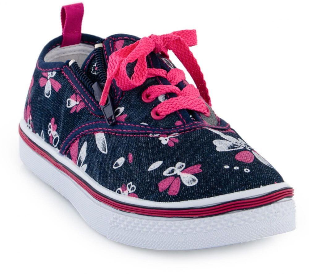 ALPINE PRO dívčí obuv SAIRO 34 růžová/modrá