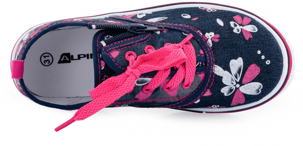 ALPINE PRO dívčí obuv SAIRO 33 růžová/modrá