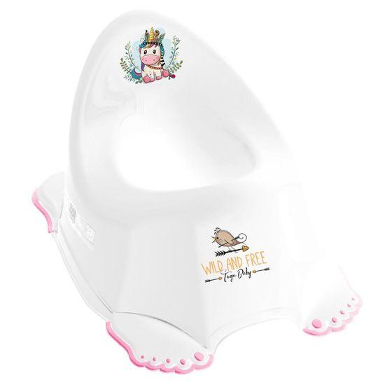 Tega Baby Potty Egyszarvú, dallammal, fehér / rózsaszín