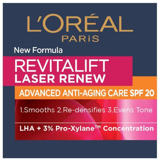 Loreal Paris Revitalift Laser Renew krema, dnevna, SPF20, 50 ml