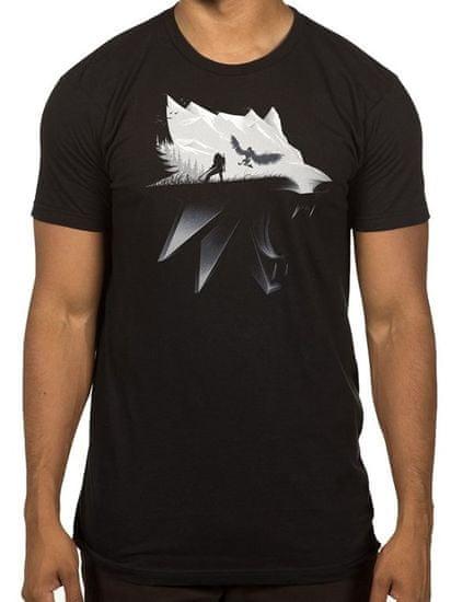 Tričko Zaklínač - Silhouette (americká vel. M / evropská L)