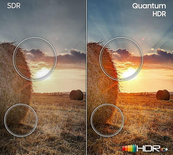 samsung tv televize qled 4K 2020 kontrast, ostra slika, Q HDR, Quantum Dot, sence