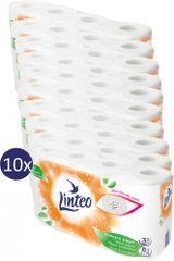LINTEO Toaletní papír 10x 8 ks, bílý, 3 vrstvy 15 m