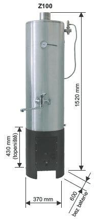 Opop Lázeňská kamna na dřevo a hnědé uhlí OPOP Z100, výkon 8 kW, objem 100 litrů, nerezový výměník