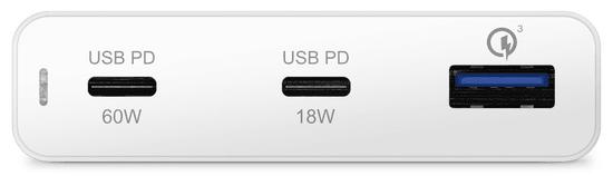 EPICO 60 W & 18 W PD Charger 9915101100082, fehér