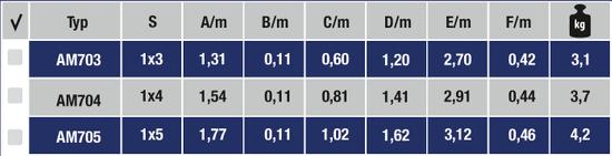 ALUMET Hliníkové jednostranné schodíky 3 + 1