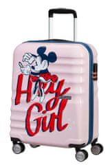 American Tourister Kabinový cestovní kufr Wavebreaker Disney Spinner 36 l Minnie Darling Pink